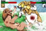 Iorek vs. Aslan - Colored