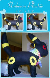 Umbreon Plushie by kyraal