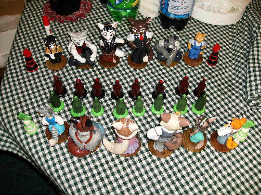 Lackadaisy Chess Set by Draco-McWherter