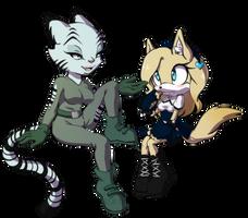 COMM: Karahl and Sonya by Snowblind-Monubone