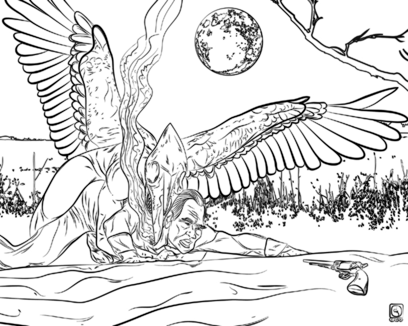 demon dragon coloring pages - photo#41