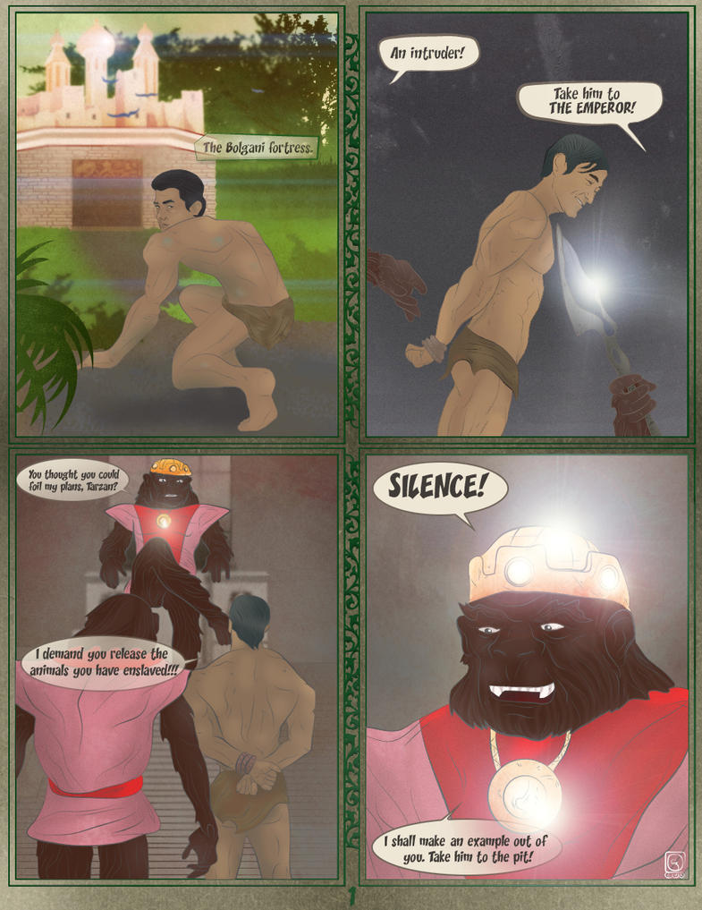 Tarzan at the hands of the Emperor (Page 1 of 3) by jackcrowder