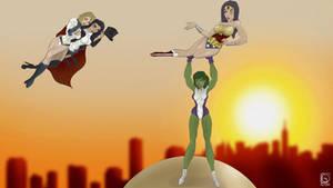 Wonder Woman x SheHulk x Power Girl x Zatanna