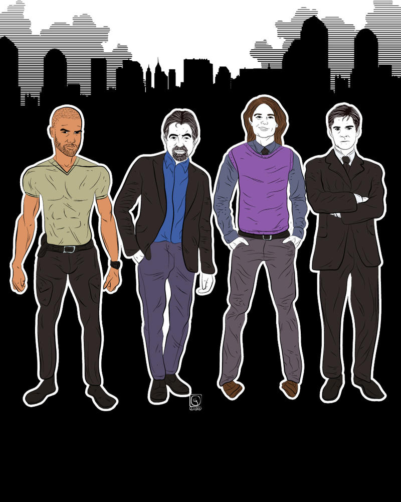 CRIMINAL MINDS Morgan x Rossi x Reid x Hotchner by jackcrowder