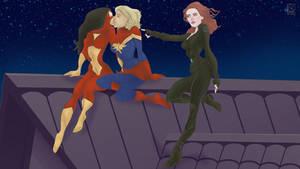 AHEM MY TURN featuring Romanoff x Danvers x Drew