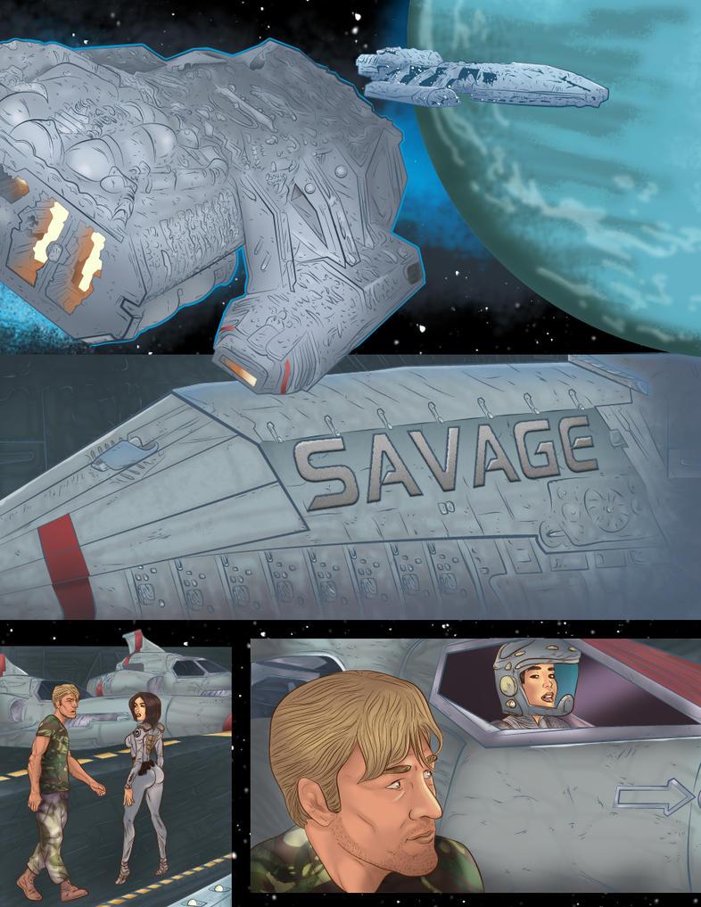 battlestar SAVAGE page ONE by jackcrowder