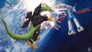 Battleship Libra + Serpentera vs Macross