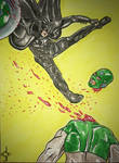 MIDNIGHTER vs the COMMANDER by jackcrowder