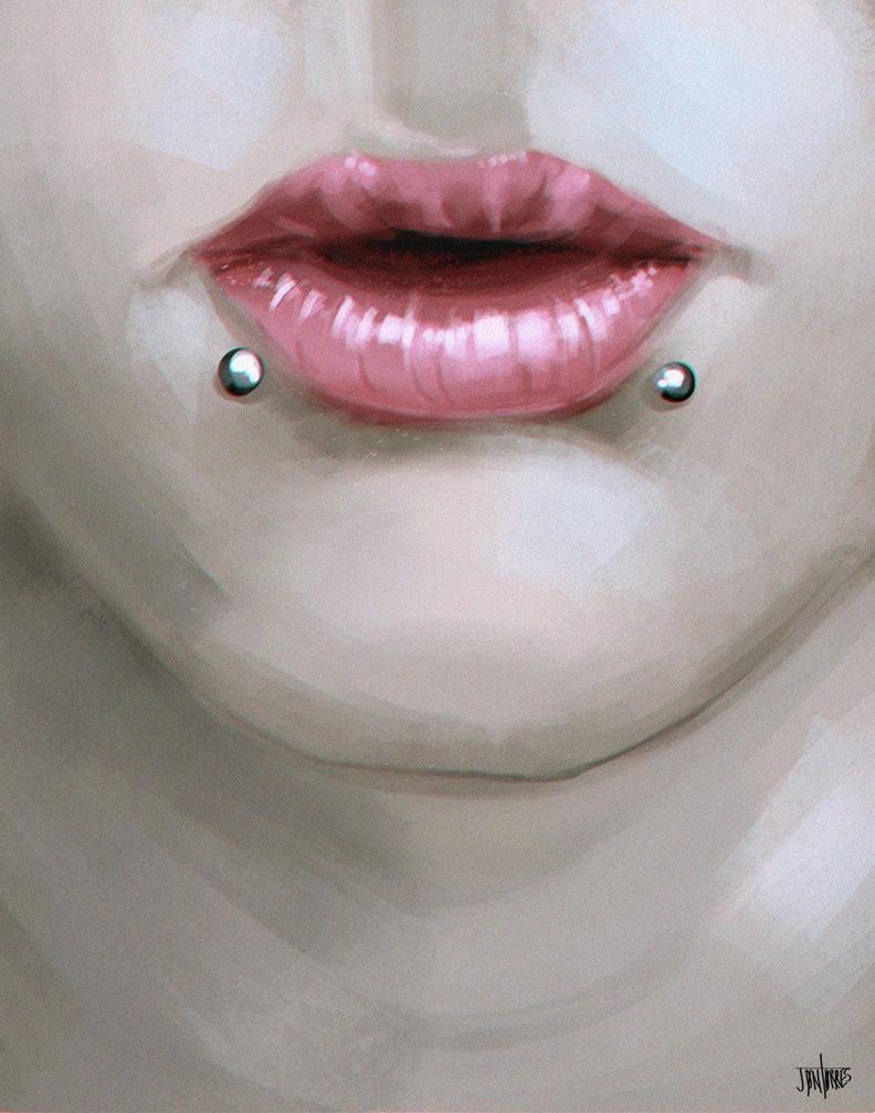 Lips Study - Speedpaint Study by FaceGrater