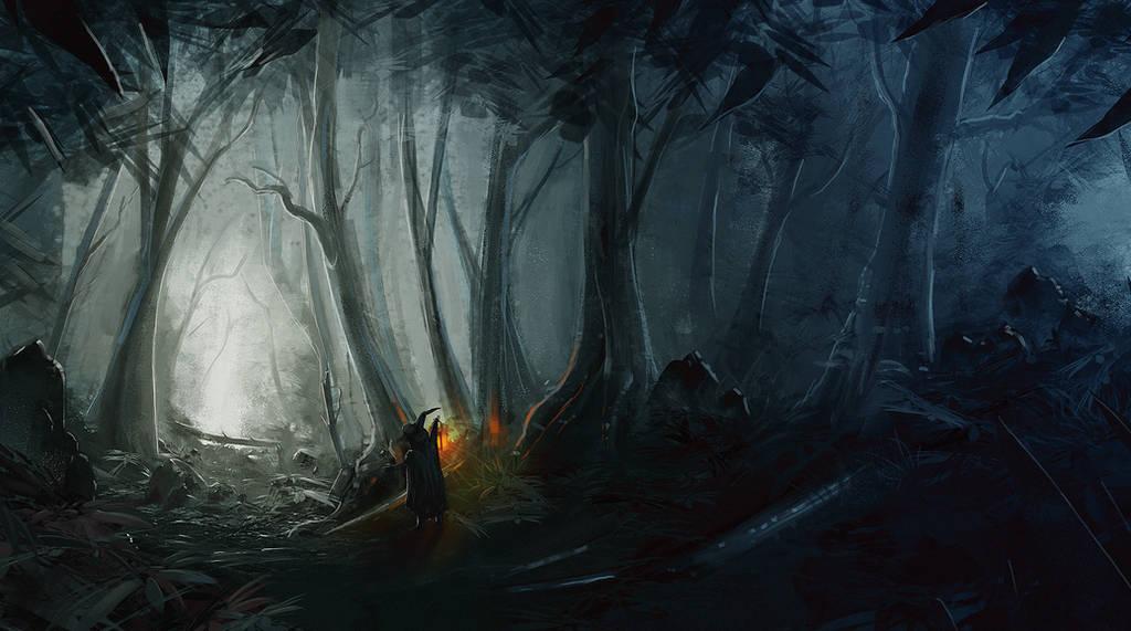 Dark Forest by jontorresart