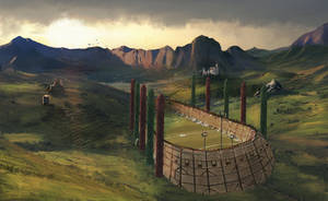 Quidditch Stadium by jontorresart