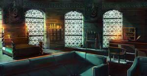 Slytherin Dorm Room by jontorresart