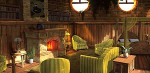 HufflePuff Dorms by jontorresart