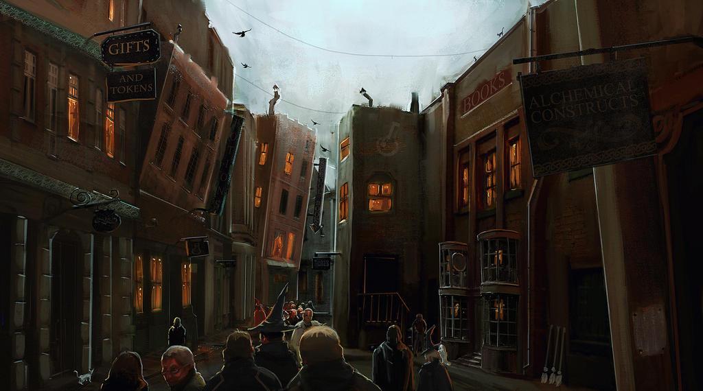 Diagon Alley by FaceGrater