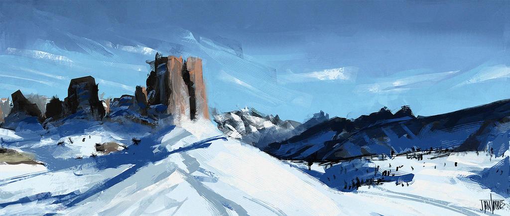 Snow Study by jontorresart