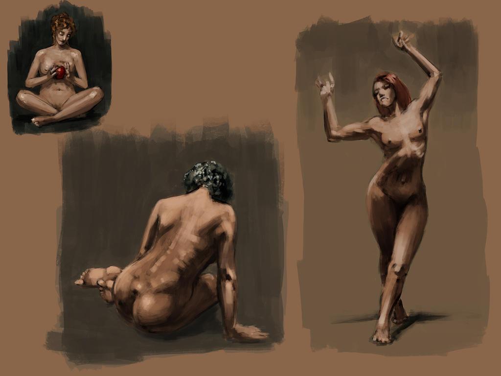 Female Figure Studies by jontorresart