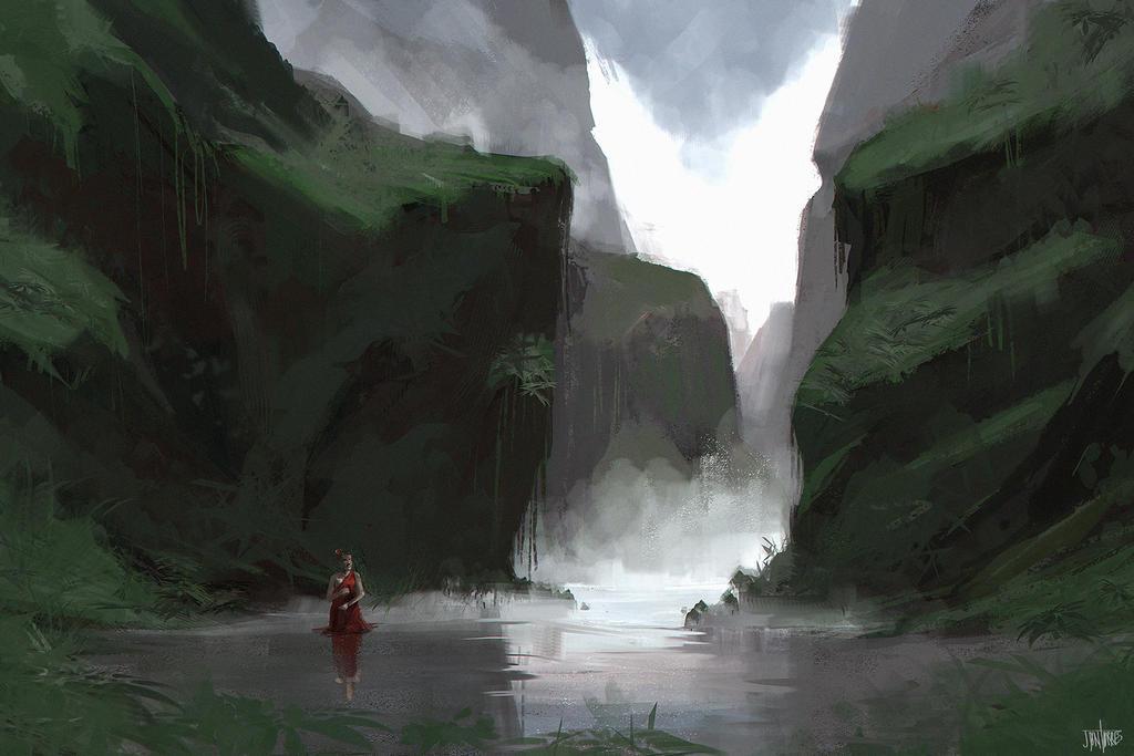 Ravine Speed painting by jontorresart