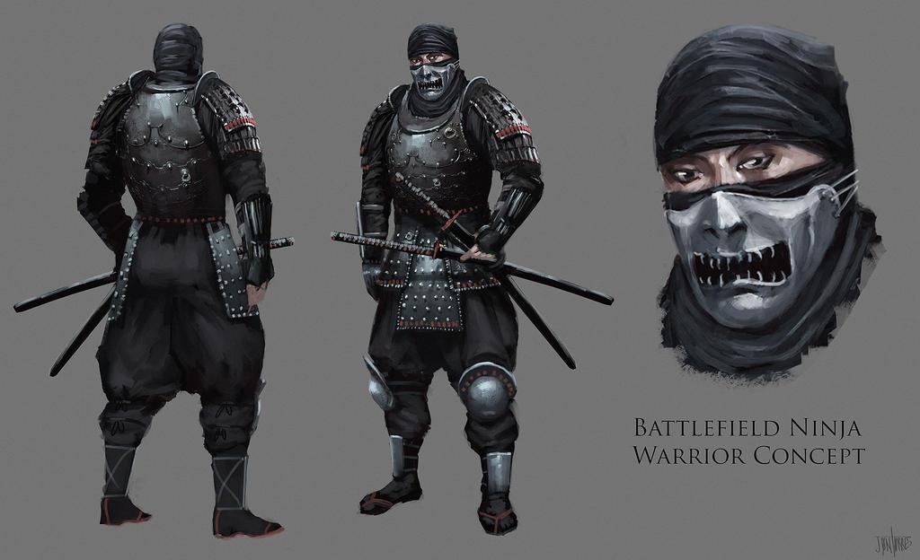 Battle Field Ninja Concept by jontorresart