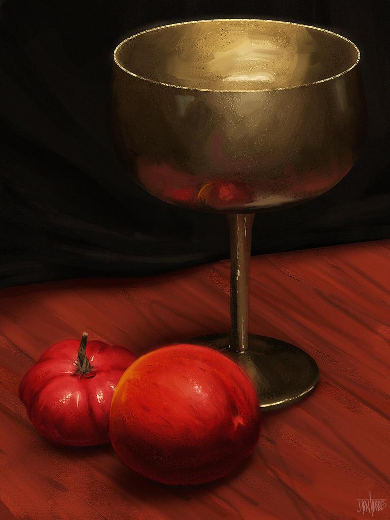 Fruit and Cup by jontorresart