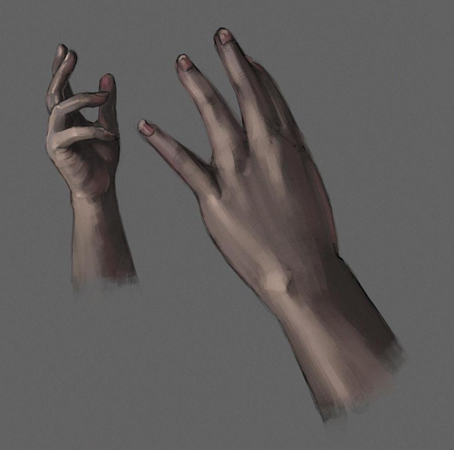 Hand Study by jontorresart
