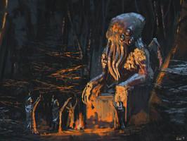 Cult of Cthulhu by jontorresart