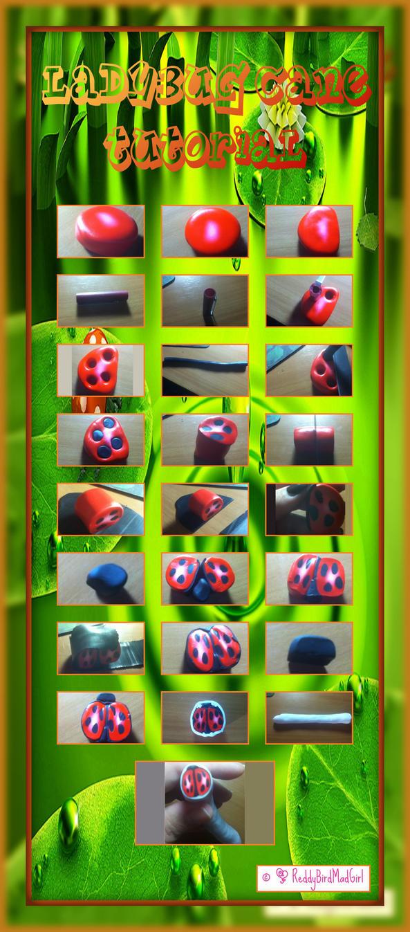 Ladybug Cane Tutorial by ReddyBirdMadGirl