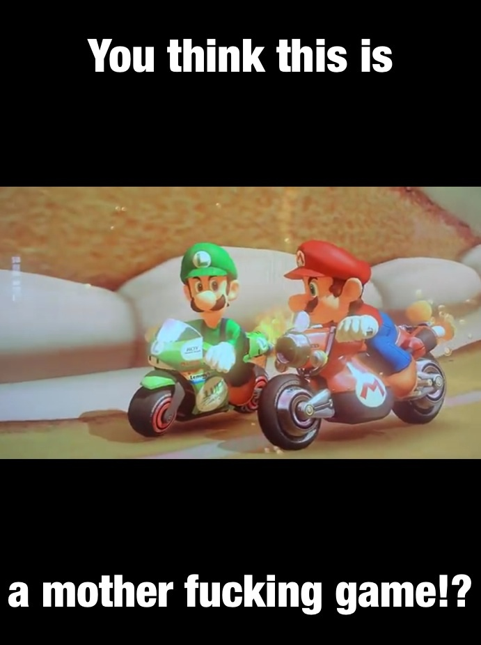 Luigi S Death Stare Mario Kart 8 Meme By