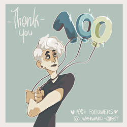 Thanks a Bunch for 100 Followers by WAYWARD-GH0ST