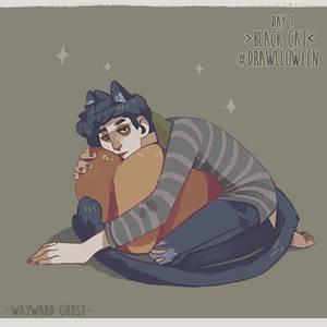 Drawlloween 2019 Day 1 - Black Cat