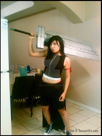 Tifa with Buster Sword by Magic-Artist
