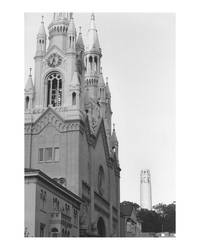 A Cathedral and Coit Tower by archangelhunter