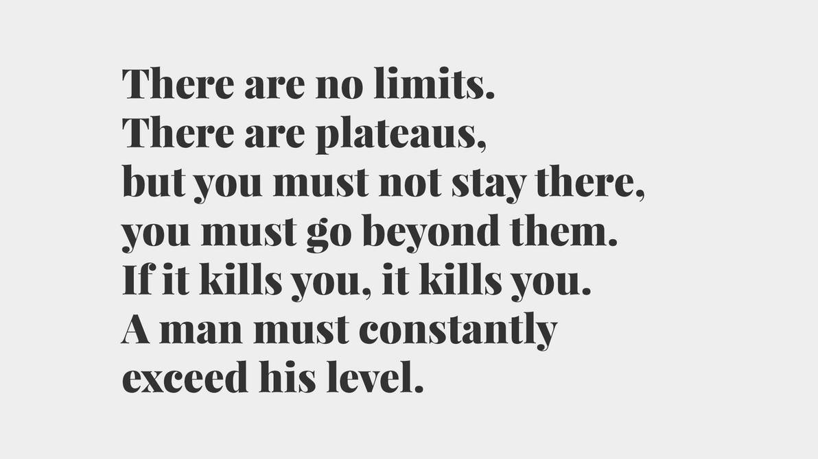 Bruce Lee Quote There Are No Limits Full Hd Wp By Zaffa91 On