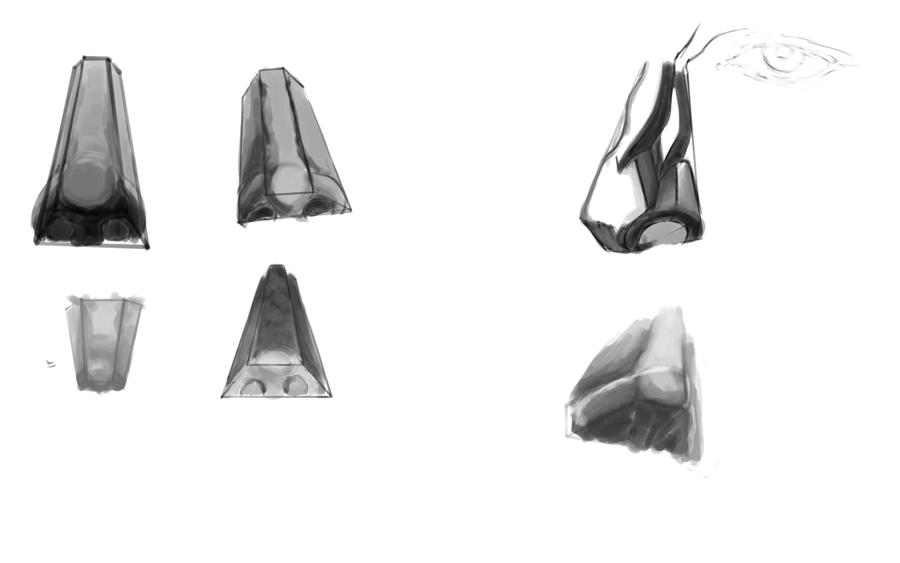 Nose Sketches by Dale-Walters