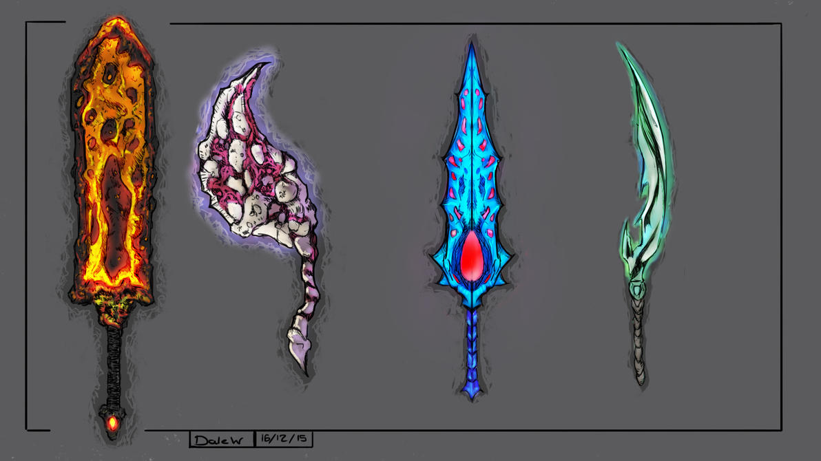 Swords Weapon Concepts by Dale-Walters