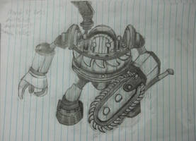 Timbersaw Suit Drawing by Alucard009