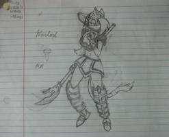 Warlord Misty Concept Drawing by Alucard009