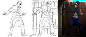 Five-Minute Cosplay Watch_Dogs Drawing (GIFT) by Alucard009