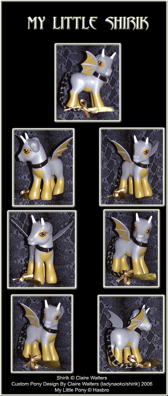 Custom Pony - My Little Shirik by ladynaoko