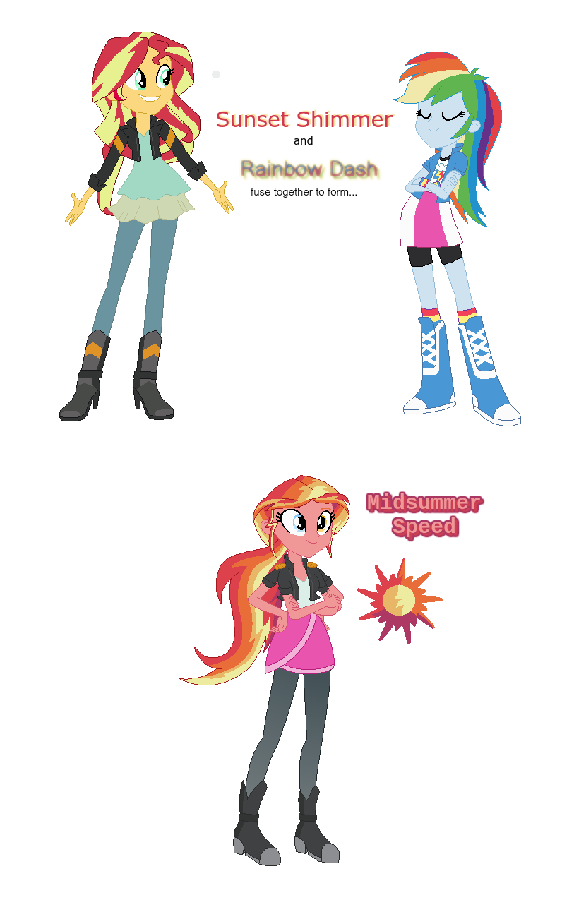 Sunset Shimmer And Rainbow Dash Fusion By Berrypunchrules