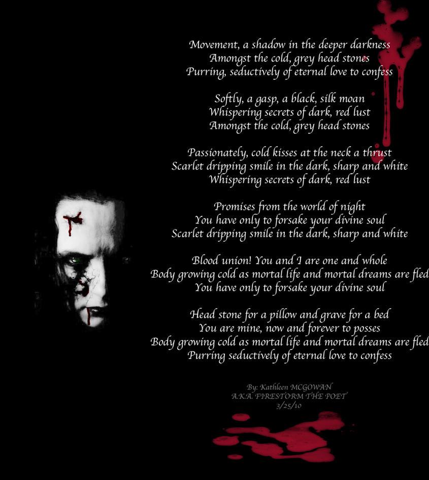Vampire's Promise by Firestorm-the-Poet on DeviantArt