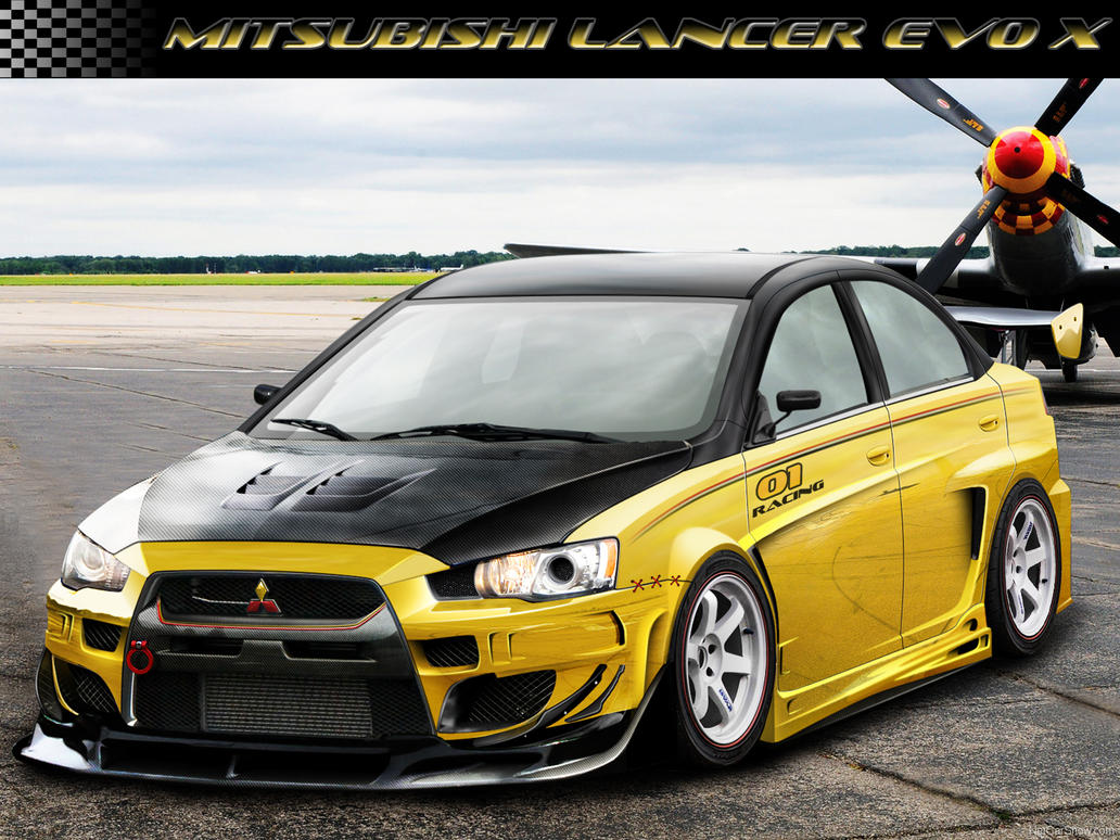 mitsubishi lancer evo x yellow by intro92 on deviantart. Black Bedroom Furniture Sets. Home Design Ideas