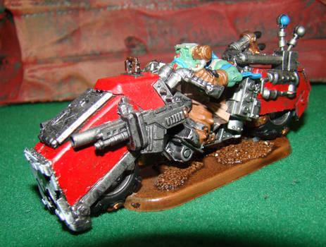 Ork Mek Engineer on a warbike