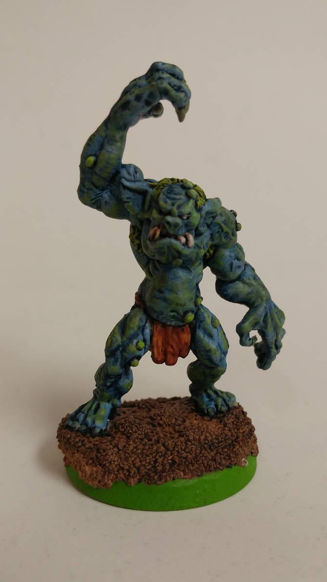 Troll Big Guy for Ork Blood Bowl Team
