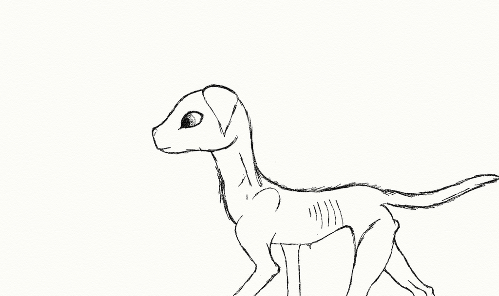 Emaciated Dog by Leapingriver