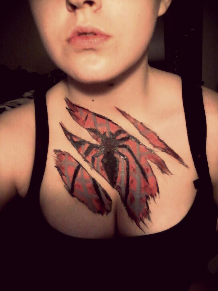 Spiderman Chest Paint. by Onii-Jurai