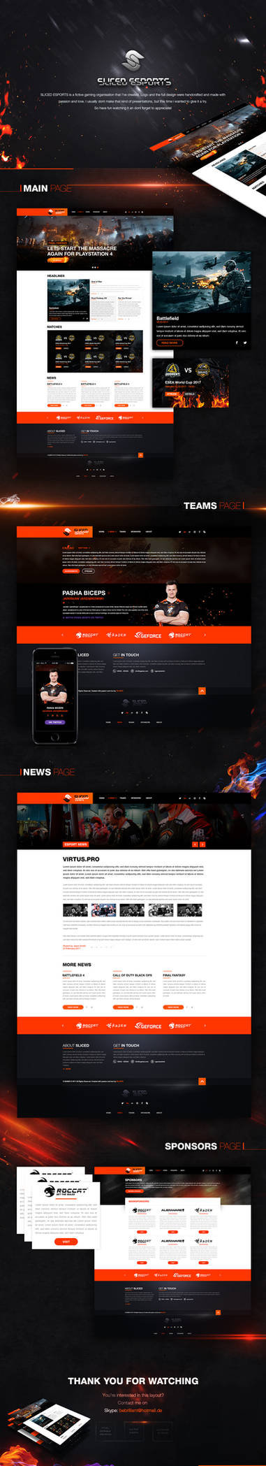 Esport Layout for sale