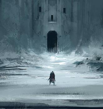Castle carved in glacier