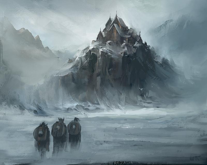 Viking Castle by Reza-Afshar-Art