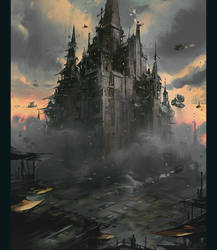 Steampunk City by ArtofReza
