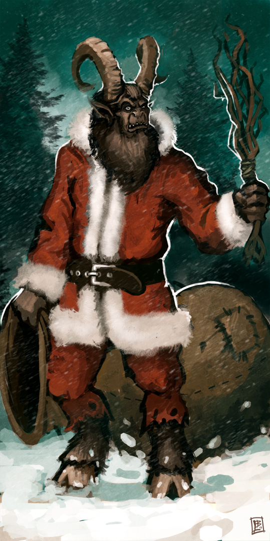 Merry krampus by vanagandr on deviantart - Krampus wallpaper ...